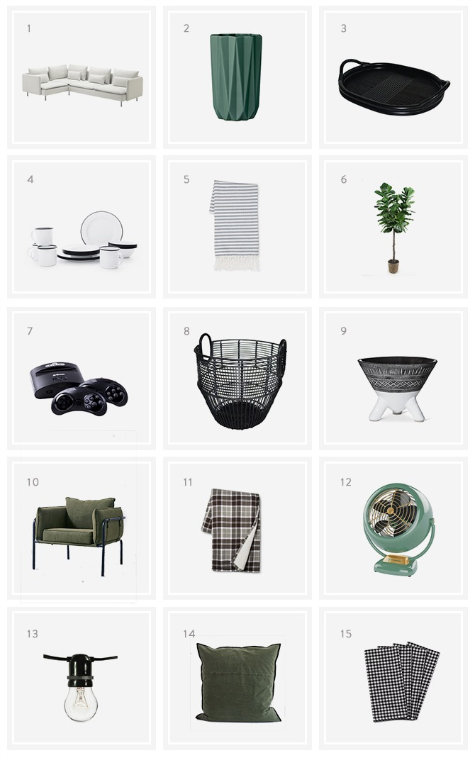Cabin Shopping List