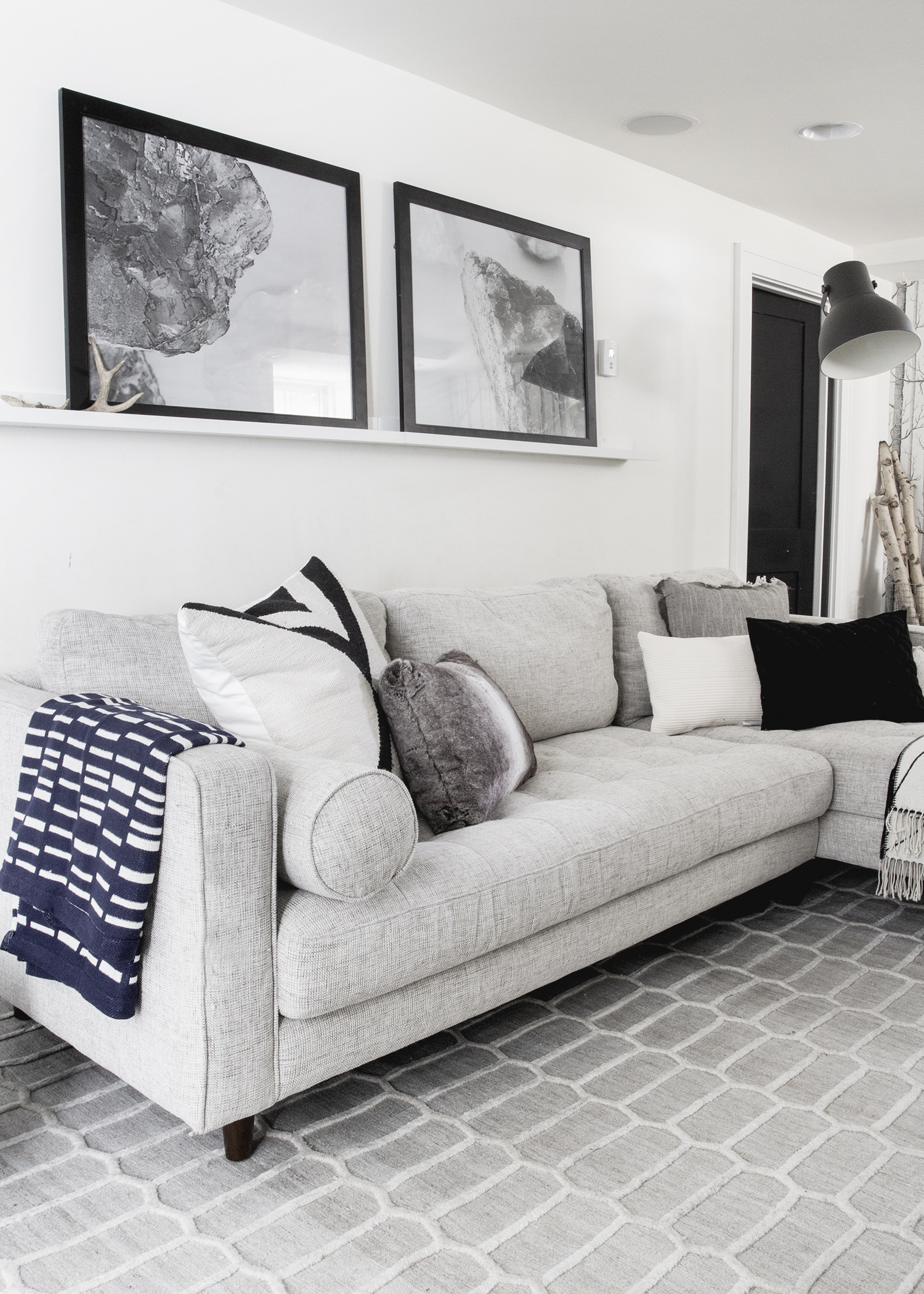 Review : Sven Article Sofa & A Mini Basement Makeover