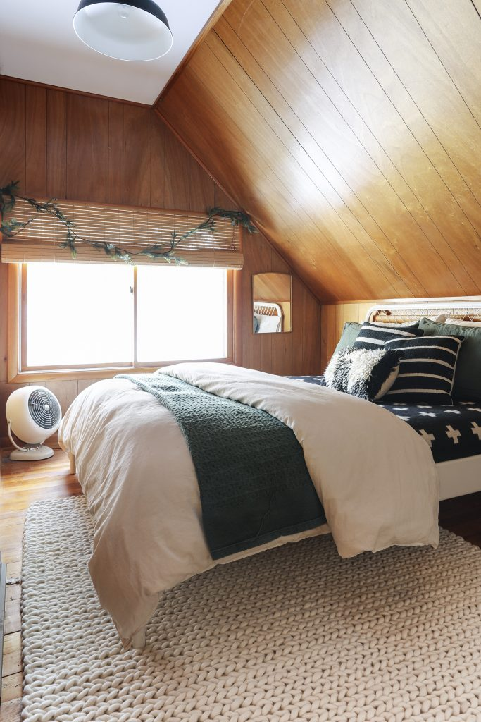 Wood Paneling in our Cabin Bedroom | Deuce Cities Henhouse