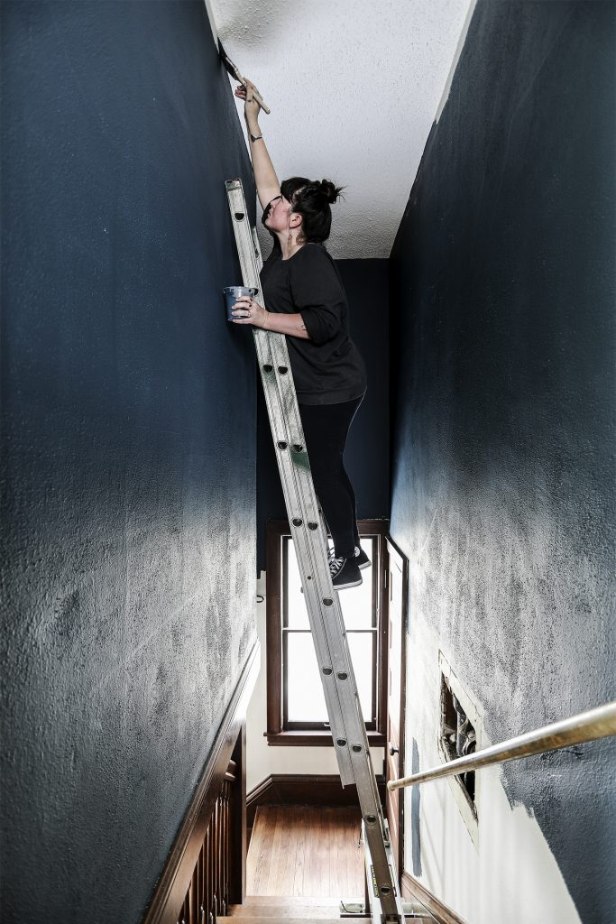 Painting My Stairwell without Dying