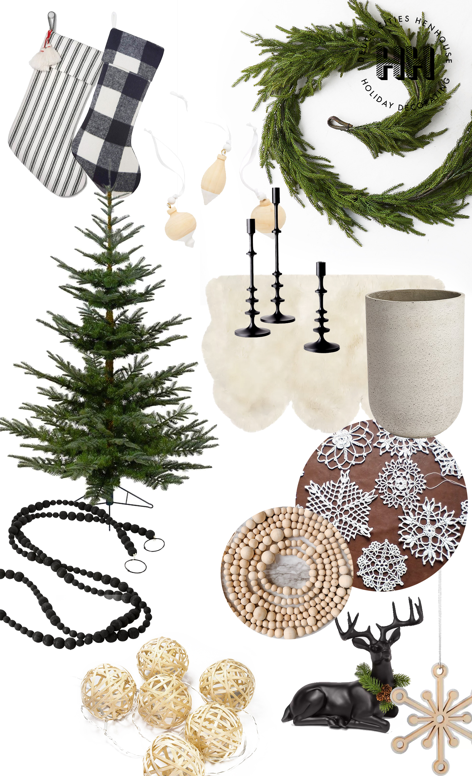 Decorating for a Minimal Rustic Christmas