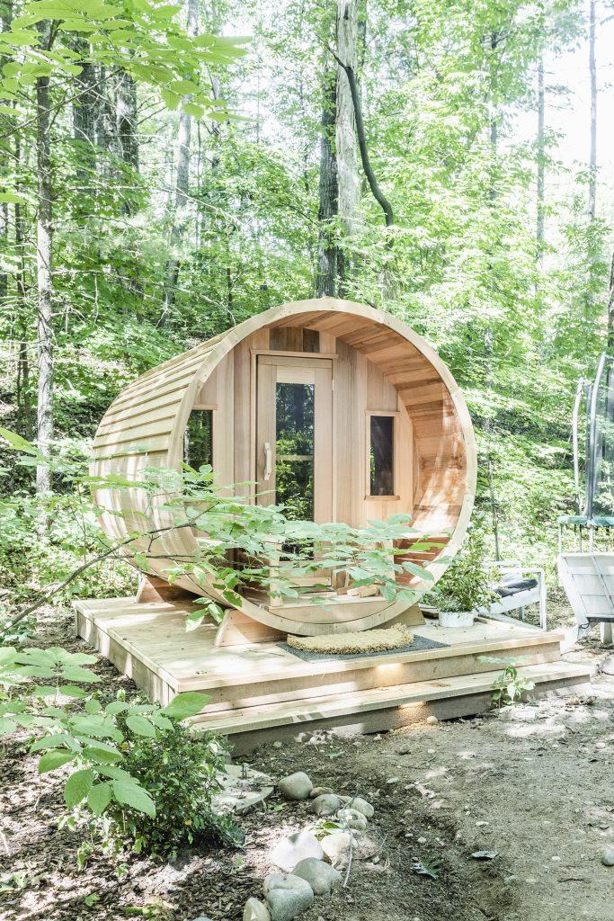 Barrel Sauna in the Woods